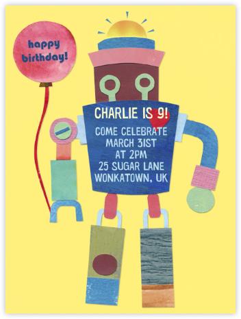 Kid's Robot - Paperless Post -