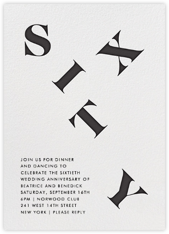 It's All Uphill from Here (Sixty) - Paperless Post - Celebration invitations