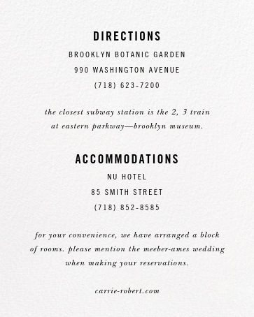 Rose Bed (Invitation) - kate spade new york - All - insert front