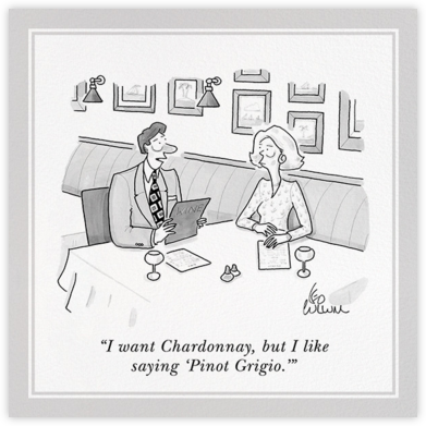 Pinot Grigio - The New Yorker - The New Yorker cards and invitations