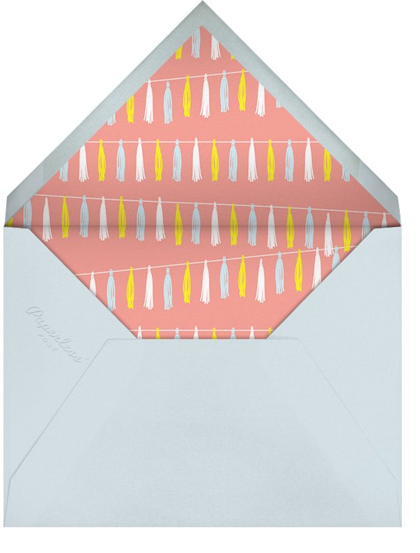 Tasseled II - Multi - Paperless Post - Kids' birthday - envelope back