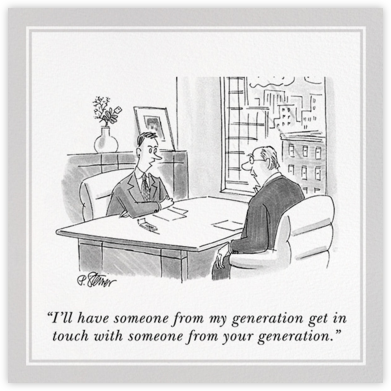 Generation Gap - The New Yorker - Birthday Cards for Him