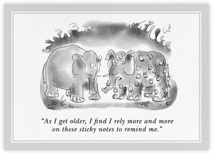 Forgetful Elephant - The New Yorker - Birthday Cards for Him