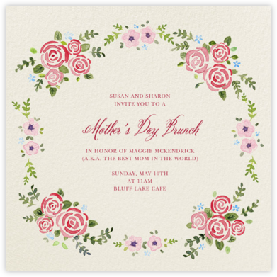 Rose Garland - Paperless Post - Online Mother's Day invitations
