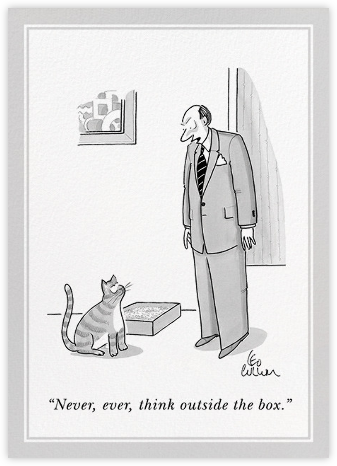 Think Outside the Box - The New Yorker - Just because cards