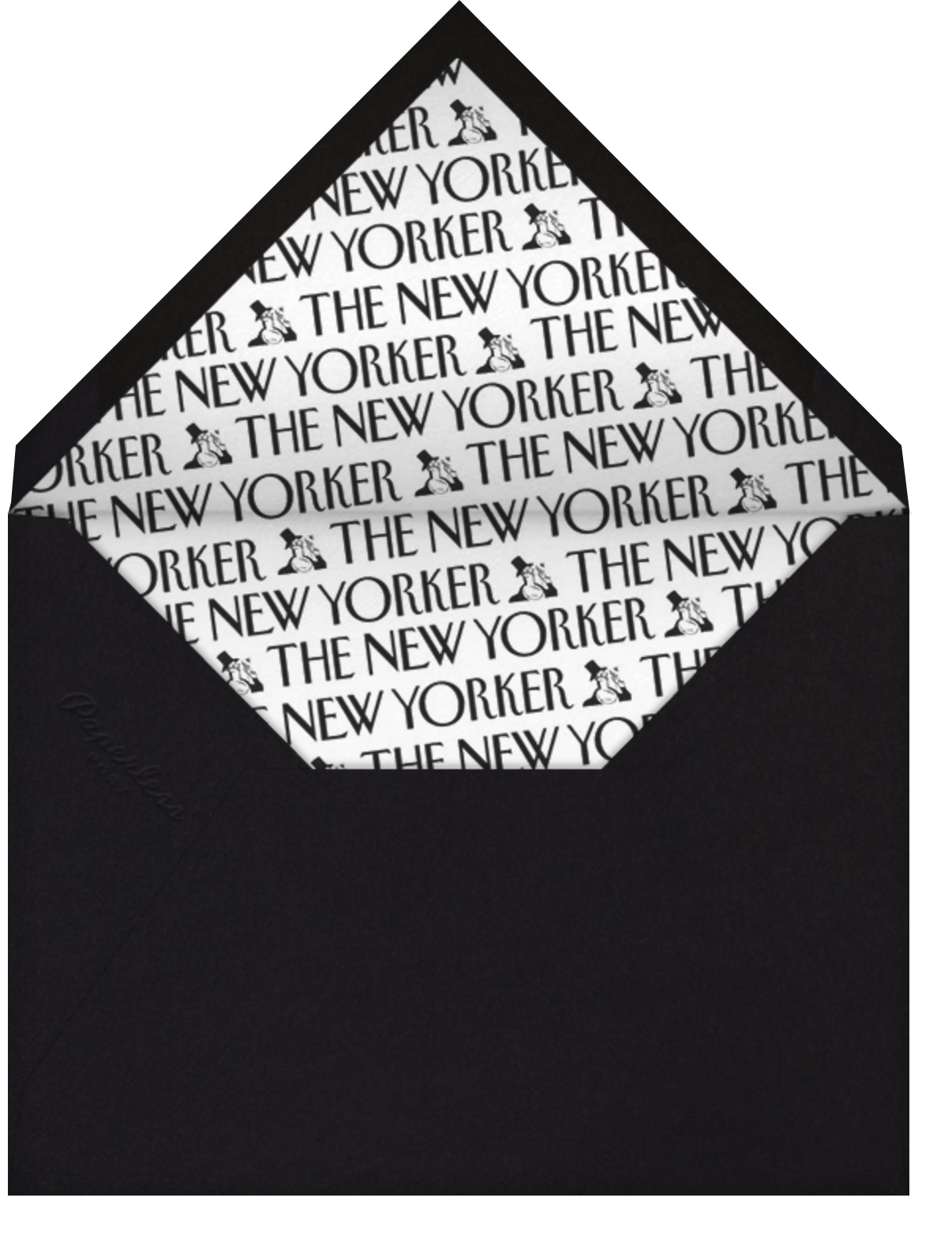 Think Outside the Box - The New Yorker - Just because - envelope back