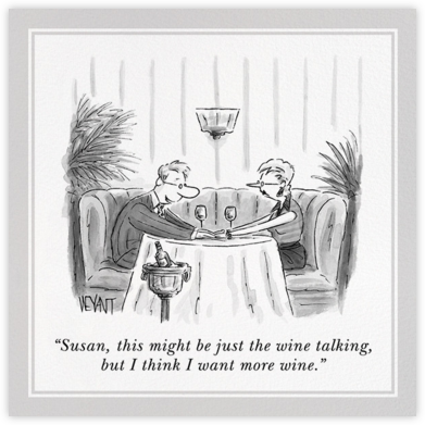 More Wine - The New Yorker - Dinner party invitations