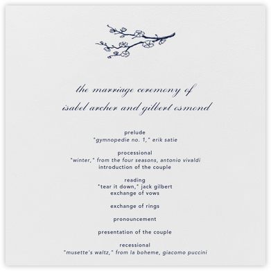 Ivory (Program) - Paperless Post - Wedding menus and programs - available in paper