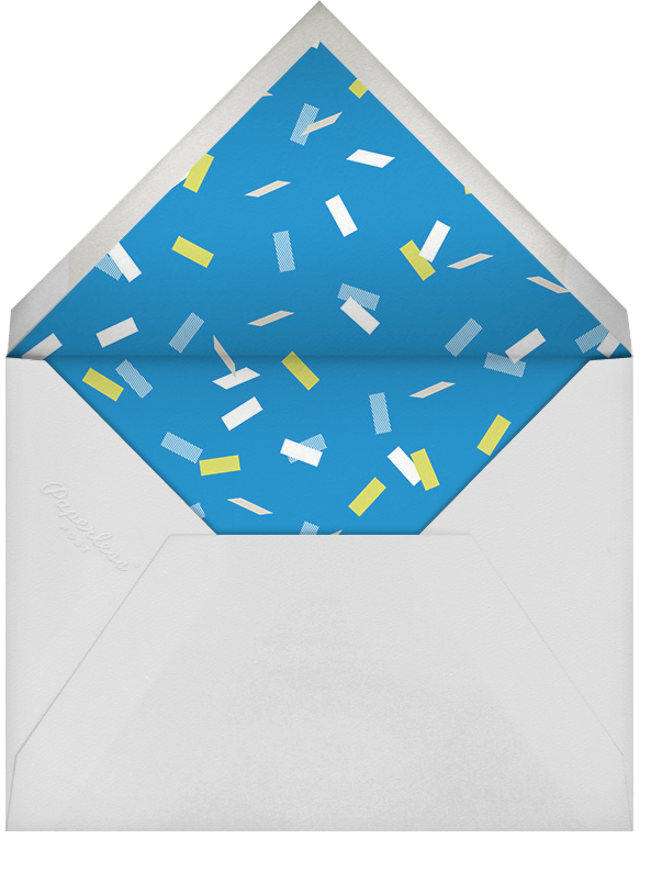 Parade Day - Blue - Paperless Post - Kids' birthday - envelope back