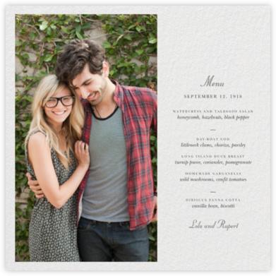 Split Square (Menu) - Paperless Post - Wedding menus and programs - available in paper