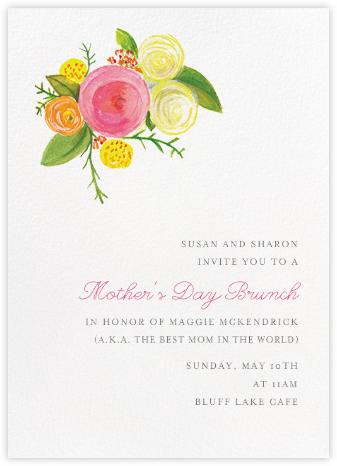 Pocket Full of Sunny Flowers - Paper + Cup - Mother's Day invitations