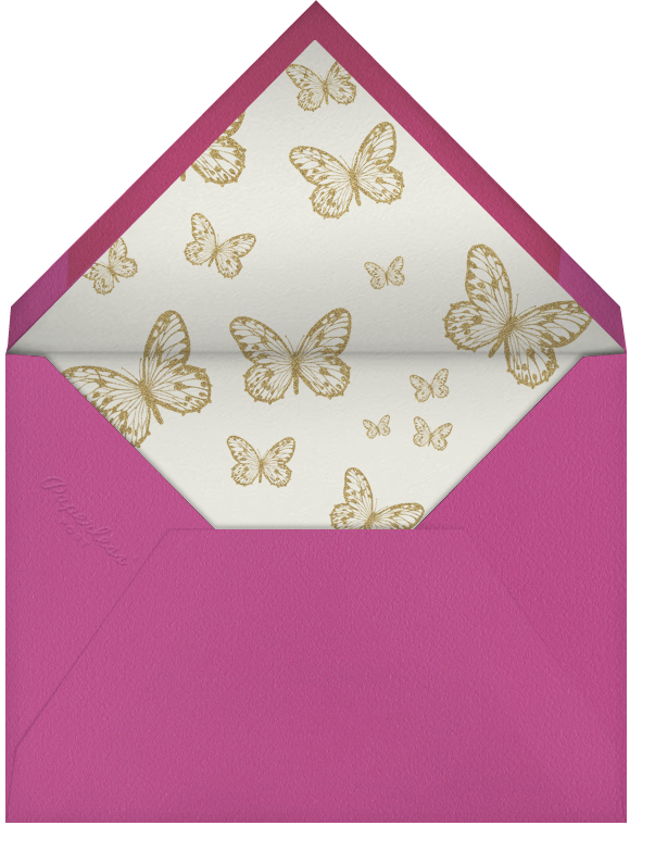 Butterfly Border - Pink Ivory - Bernard Maisner - Mother's Day - envelope back