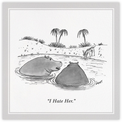 Hippos - The New Yorker - Just because cards