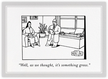 Something Gross - The New Yorker - Get well cards