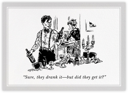 Did They Get It? - The New Yorker - Dinner Party Invitations