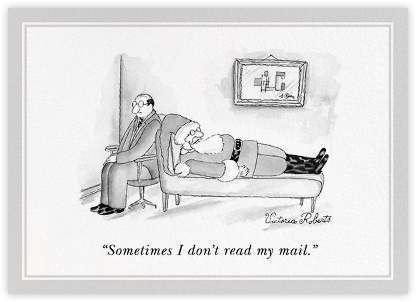 I Don't Read my Mail - The New Yorker - Funny Christmas eCards