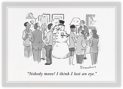 Nobody Move! - The New Yorker - Christmas invitations