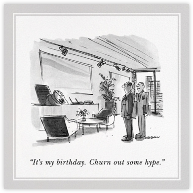 Boss's Birthday - The New Yorker - Birthday