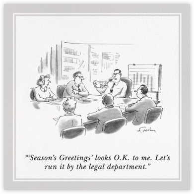 Looks O.K. - The New Yorker - Holiday cards