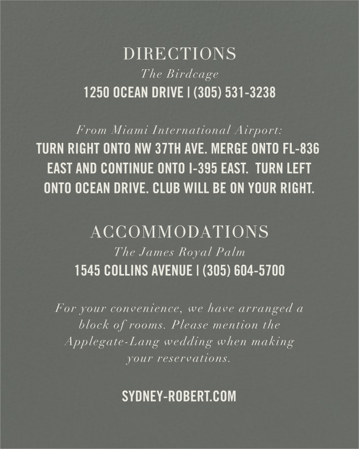 Typographic II (Invitation) - Gray - kate spade new york - All - insert front