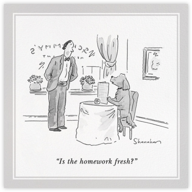 Fresh Homework - The New Yorker - Dinner Party Invitations