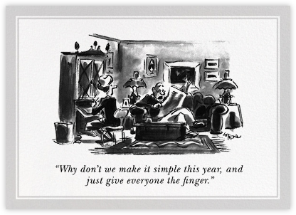 Make it Simple - The New Yorker - Funny Christmas eCards