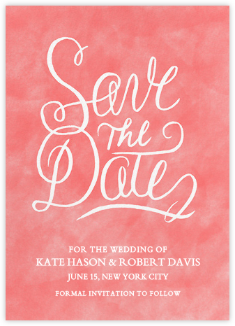 Watercolor Save the Date - Crate & Barrel - Wedding Save the Dates