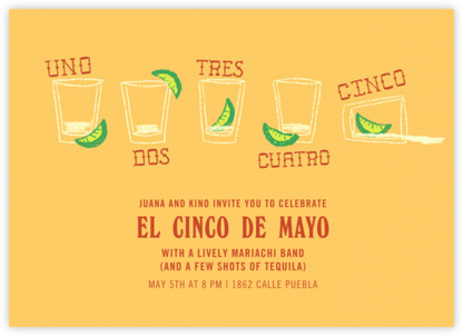Uno Dos Tres - Paperless Post - Cinco de Mayo Invitations