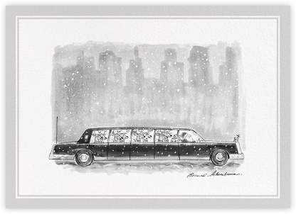 Reindeer Limo - The New Yorker - Funny Christmas eCards