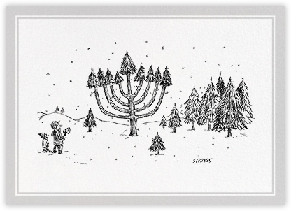 Tree Menorah - The New Yorker - Hanukkah cards