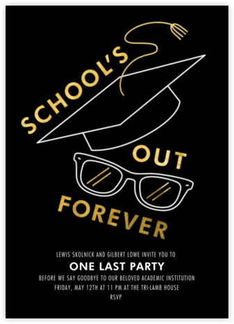 Too Cool for School - Paperless Post - Celebration invitations