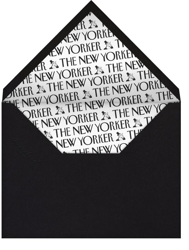 Tree Menorah - The New Yorker - Hanukkah - envelope back