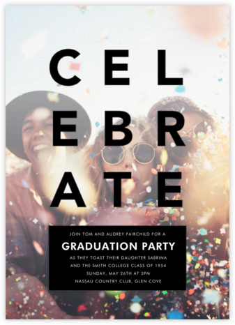 Celebratory Haze - Black - Paperless Post - Celebration invitations