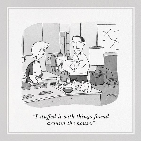 Stuffed Turkey - The New Yorker - Thanksgiving invitations