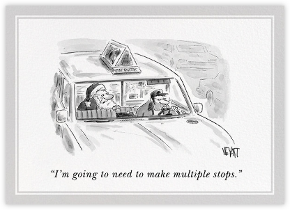 Taxi Santa - The New Yorker - Online greeting cards