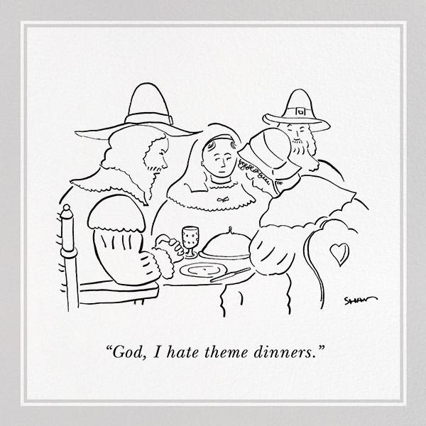 Pilgrims - The New Yorker - Thanksgiving invitations