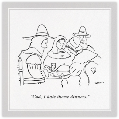 Pilgrims - The New Yorker - Thanksgiving invitations
