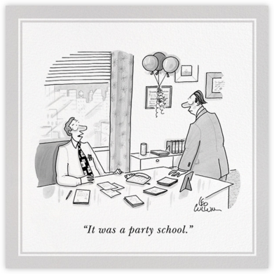 Party School - The New Yorker - The New Yorker cards and invitations