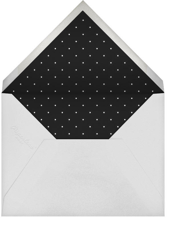Editorial II (Stationery) - Meringue/Silver - Paperless Post - Personalized stationery - envelope back