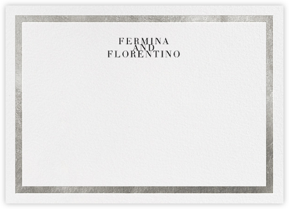 Editorial II (Stationery) - White/Silver - Paperless Post - Personalized Stationery