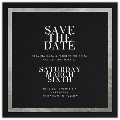 Editorial II (Save the Date) - Black/Silver - Paperless Post - Save the dates