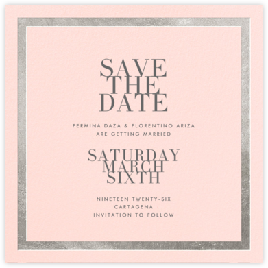 Editorial II (Save the Date) - Meringue/Silver - Paperless Post - Save the dates
