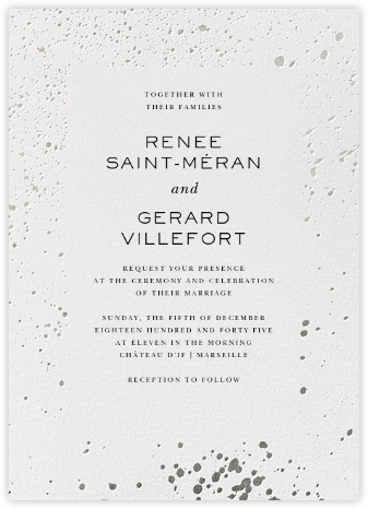 Splatter Cloth II - Silver - Paperless Post - Wedding Invitations