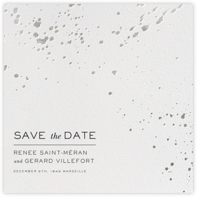 Splatter Cloth II (Save the Date) - Silver - Paperless Post - Save the dates
