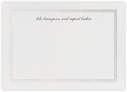 Triple Interior Border (Horizontal) - Silver - Paperless Post - Personalized Stationery