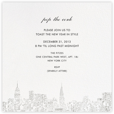 City Lights II (Square) - White/Silver - kate spade new york