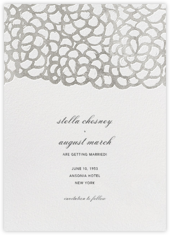 Gardenia (Save the Date) - White/Silver - Oscar de la Renta - Save the dates