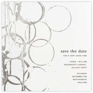 Bottle Shock - Silver - Kelly Wearstler - Holiday Save the Dates