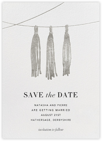 Tasseled II (Save the Date) - Silver | null