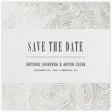 Burlwood II (Save the Date) - Silver - Paperless Post -